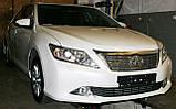 Декоративно-захисна сітка радіатора Toyota Camry фальшрадіаторная решітка, бампер, фото 4