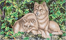 """Схема для вышивки бисером  W-256 """"Вовки"""""""