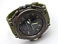 Часы  Shock - Global System, водозащита 5Bar,  черные c зеленым, фото 1