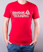 Красная мужская футболка Reebok Training (Рибок Тренинг) | 100 % хлопок, размеры: 44-52