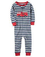 Детская пижама (комбинезон) в полоску с пожарной машиной Carters для мальчика