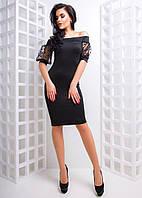 Платье, рукава сетка горох, разные цвета