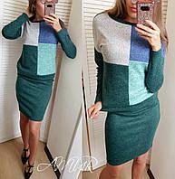 Женский стильный костюм-двойка юбка и свитер со спущенным плечом, фото 1