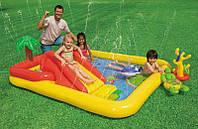 Intex 57454, детский надувной центр бассейн с горкой Аквапарк