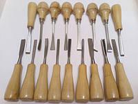 Набор резцов PROFI Большой. 17 ед. резцов для резьбы по дереву. ручка бук