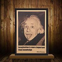 Постер Альберт Эйнштейн 51см *35.5см