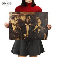 Постер  Ретро картина Парни ,  51.5см *36см