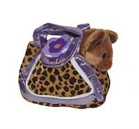 """Мягкая игрушка """"Собачка в сумочке"""" (леопардовая сумкочка)"""