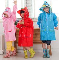 Плащ-дождевик детский Raincoat, водонепроницаемый, синий