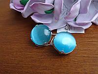Шикарні срібні сережки з улекситом, фото 1