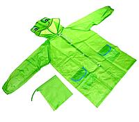 Плащ-дождевик детский Raincoat, водонепроницаемый, зеленый