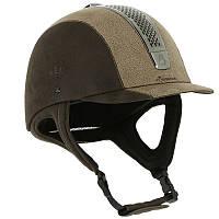 Шлем для конного спорта Fouganza C700 коричневый