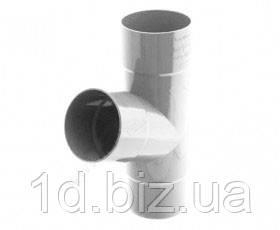Тройник водосточной системы Бриза (Bryza) 90/90/90 мм белый
