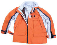Куртка дышащая тип Inshore sailing jacket 'Xts Extreme' 3 ?? 1', breathable, orange / ice blue / nav