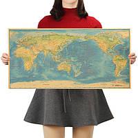 Постер Карта Мира, 70.5см *35см