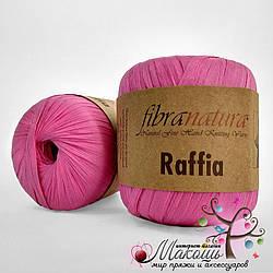 Пряжа Рафия Raffia Fibranatura, 116-07, розовый