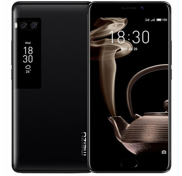 "Смартфон Meizu Pro 7 4/64Gb Black, 12+12/16Мп, 8 ядер, 2sim, экран 5.2"" Amoled, 3000mAh, GPS, 4G, Android 7.0"