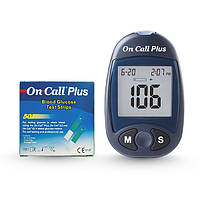 Глюкометр On-Call Plus + 50 тест-полосок (Он-Колл Плюс), (США)