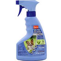 Hartz UltraGuard Plus Spray Dog Инсекто-акарицидный спрей от блох и клещей для собак с алоэ 473мл (H01883)