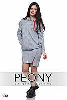 Платье Нэо - нью (48 размер, серый) ТМ «PEONY»
