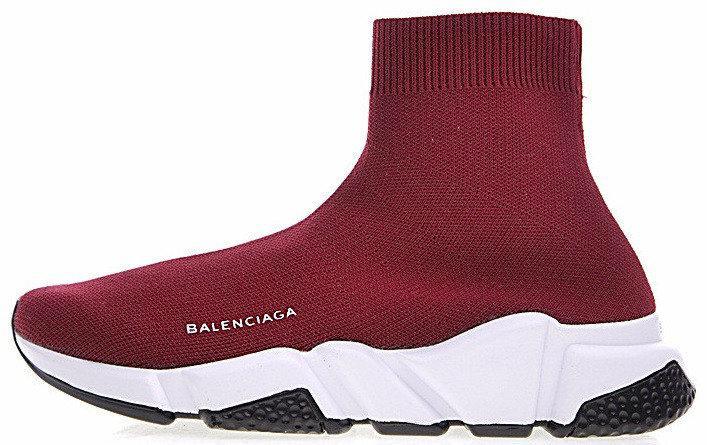 Женские кроссовки Balenciaga Speed Trainer (Баленсиага) бордовые