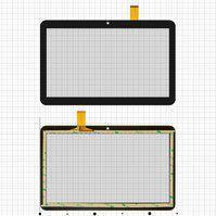 "Сенсорный экран для планшетов China-Tablet PC 10,1""; Bravis NB106 3G, NB107 3G; Digma  Optima 10.4 3G, Optima 1200t 3G, 10,1"", 155 мм, 247 мм, 51 pin,"