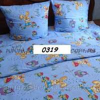 Постельное в детскую кроватку Зайка (гол), бязь 0319 М
