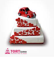 """Свадебный торт на заказ """"Машина для молодоженов """""""