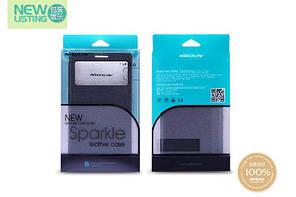 Кожаный чехол (книжка) Nillkin Sparkle Series для Samsung Galaxy Note 5 Черный