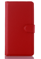 Кожаный чехол-книжка для Meizu M2 Note красный