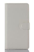 Кожаный чехол-книжка для Meizu M2 Note белый