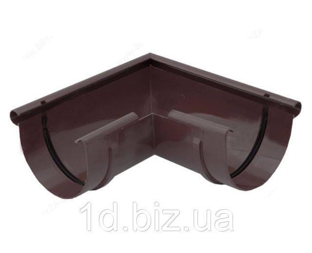 Угол внешний 90 град., водосточной системы Бриза (Bryza) 125 мм коричневый