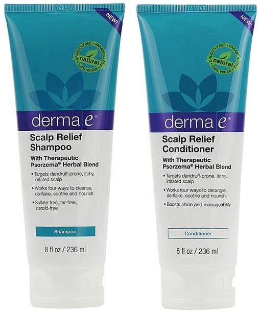 Набор Шампунь и Кондиционер успокаивающие для чувствительной кожи головы и от псориаза на основе трав *Derma E
