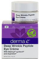 Пептидный крем для век от глубоких морщин *Derma E (США)*