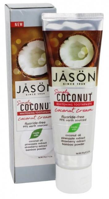 Відбілююча зубна паста з маслом кокоса SimplyCoconut™ * Jason (США)*