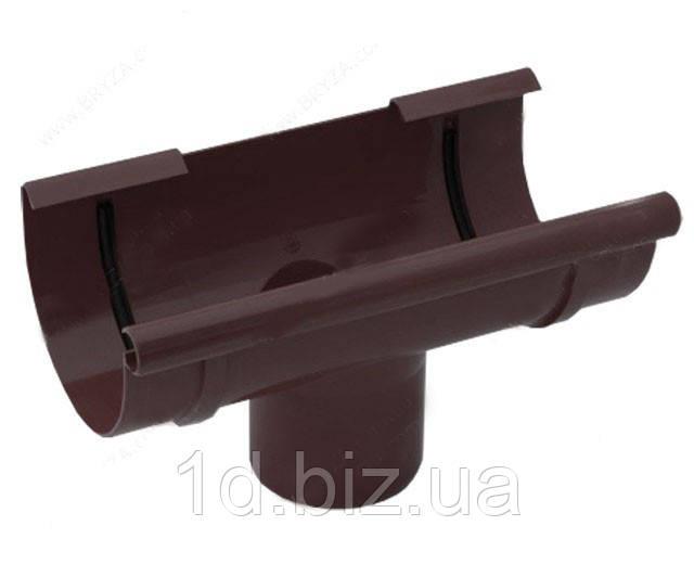 Воронка сливная водосточной системы Бриза (Bryza) 125 мм коричневый