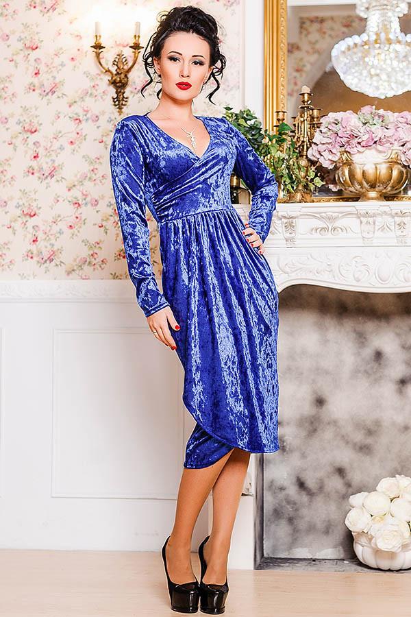 Велюровое вечернее платье -Дороти - электрик