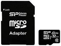 Карта памяти Silicon Power microSDHC 32GB Class 10 UHS-I Elite adapter
