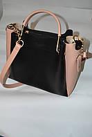Элитная женская сумка с металическими ручками,комбинированая.