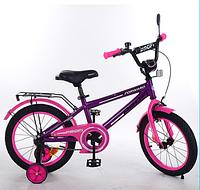 Велосипед двухколёсный детский 14 дюймов Profi Forward T1477 фиолетов.-розововый  ***