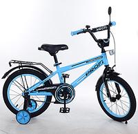 Велосипед двухколёсный детский 14 дюймов Profi Forward T1474 голубой ***