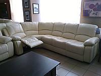 """Кожаный диван угловой раскладной с реклайнером """"Sinatra"""""""