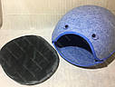 Домик Смайл из войлока голубой 44х37х34 см для собак и кошек, фото 4