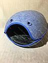Домик Смайл из войлока голубой 44х37х34 см для собак и кошек, фото 2
