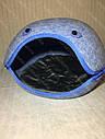 Домик Смайл из войлока голубой 44х37х34 см для собак и кошек, фото 3
