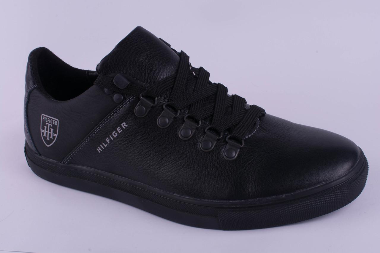 Мужские кроссовки Tommy Hilfiger кожаные черные 40, 41, 42, 43, 44, 45