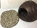Домик Юрта из войлока коричневый 43х43х33 см для собак и кошек, фото 3