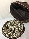 Домик Юрта из войлока коричневый 43х43х33 см для собак и кошек, фото 6