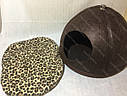 Домик Юрта из войлока коричневый 43х43х33 см для собак и кошек, фото 7