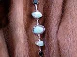 Браслет з каменем хризопраз і кварц в сріблі. Браслет з природним хризопразом., фото 5